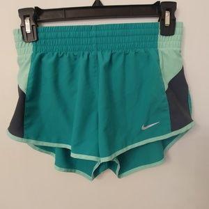 Nike Dri-Fit Running Shorts Green Gray XS